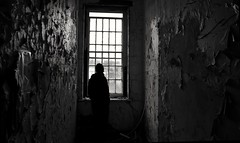 Your going to stay here until your better (Gareth Priest) Tags: bw portrait perspective highcontrast dark mood atmosphere mysterious emotion