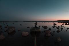 Stones (mishamikheev) Tags:            16   stones morning colors glacier boat landscape water bay island nature zenitar 16mm fisheye wide