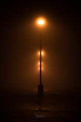 Sleepless (Ian McGregor Photography) Tags: canada ianmcgregor nikon photography fog ianmcgregorphotographycom lights mist night posts