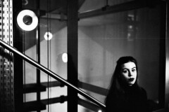 BW (silkfatblues) Tags: leica leicam3 blackandwhite monochrome grain film 35mmfilm shootfilm portrait girl 400 kodak trix