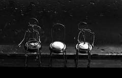 rainy days_7DWF Black&White (keiko*has) Tags: 7dwf bythewindow top champagne wire raindrop indoor