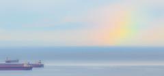 morning rainbow... dissolve and fade (c.turzak...) Tags: vancouver rainbow light morning bc canada westcoast howesound vancouverisland colour ships lowermainland pacificocean georgiastrait lightroom canon