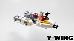 Y-wing (curtydc) Tags: microfighter star wars tie fighter xwing awing atst ywing moc lego custom