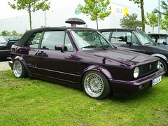 VW Golf 1 Cabriolet (911gt2rs) Tags: treffen meeting show event tuning tief low stance genesis mk1 rabbit cabrio lila purple youngtimer