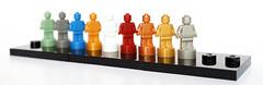 Monochrome Lego Statues (Vanjey_Lego) Tags: lego minifig minifigs minifigure minifigures statue color