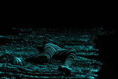 Laser light (samanthalee14) Tags: abstract paintingwithlight laserlight blue cool night