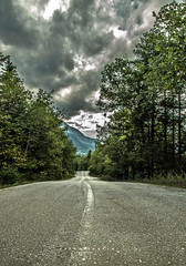 before the rain (papkostantin) Tags: landscape mountain montagna mountaineering mountains road tarmac country autumn clouds trees forest colors evrytania evritania mavrillo village greece ftiotida