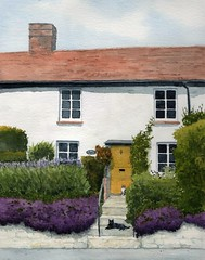 Buckinghamshire Cottage (Rob Thorpe art) Tags: dinton aylesbury bucks buckinghamshire houseportrait watercolor watercolour painting artist english england custom commission