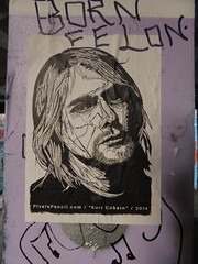Kurt Cobain street art, Leake Street (duncan) Tags: graffiti leakestreet kurtcobain streetart pixelspencil