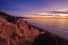 Painting the Night Sky (kirstenscamera) Tags: lajolla california ca sandiego blacksbeach goattrail surfertrail surf palmtrees surfing beach sandstone cliffs sunset purplelife torreypines salkinstitute socal southerncalifornia