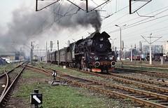 Loco Ol49 61  |  Elk PKP (2)  |  1991 (keithwilde152) Tags: ol49 elk pkp poland 1991 station passenger train tracks landscape steam locomotives town outdoor spring