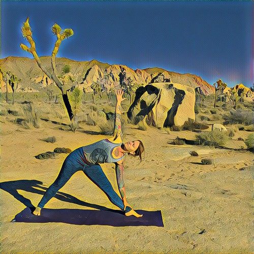 Yoga in Jtree