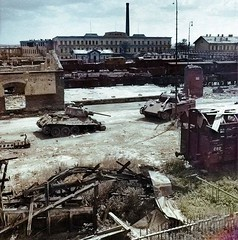 #Abandoned T-34 and Panther tanks facing each other, Czechoslovakia 1945, [800x808] (colorized) #history #retro #vintage #dh #HistoryPorn http://ift.tt/2fPg48I (Histolines) Tags: histolines history timeline retro vinatage abandoned t34 panther tanks facing each other czechoslovakia 1945 800x808 colorized vintage dh historyporn httpifttt2fpg48i