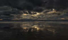Twice The Gloom  (Wilkof Photography) Tags: venicebeach venice beach venicecalifornia losangeles california pacificocean autumn afternoon beachfront canont4i cloudy canon contrast clouds dark dusk darkness evening eerie golden horizon landscape light land 18135mm 18mm lens panoramic panorama nature night overcast outside ocean oceanfront oceanscape perspective coast mirror rain rainstorm raincloud reflection rocks reflect shadow scenic sky skyline sunset sand sea surf symmetry seascape seaside sundown seagull sunbeam sunlight water wet waves wave windy wilkofphotography