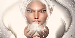 Blow of winter (meriluu17) Tags: winter snow ice queen icequeen frost frosty white elf elfish portrait closeup sg slackgirl blow fantasy fairy fairytale magic magical outdoor people catwa