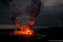 Kilauea Lava Flow (Doreen Bequary) Tags: kilauea kalapana hawaii lava volcano eruption lavaflowinocean d500 steamflow sulferdioxide caldron lavaglow