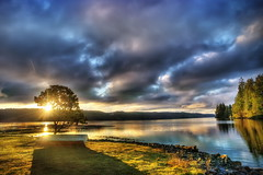 Good Morning Hood Canal (George Stenberg Photography) Tags: washingtonstate pacificnorthwest hoodcanal sunrise clouds water
