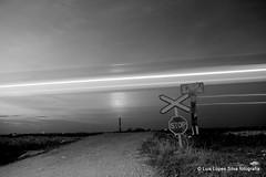 ghost train (flight69) Tags: luislopessilvafotografia flight69gmailcom flickrcomflight69 algarve portugal longexposure blackandwhite biancoenero blancoynegro noiretblanc pretoebranco linhadoalgarve passagemdenivel pentax stop railroad railway