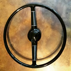 New #steeringwheel for my #hotrod #ford32 #Pickup  Bought at #reidsrodparts