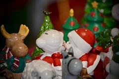 Sneaking a Kiss (I'magrandma) Tags: saltandpepper sp sets mrandmrsclause kissing shakers santa christmasparty