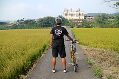 關西市區.老包 vs 稻田 (nk@flickr) Tags: friend taiwan hsinchu cycling 新竹 20161105 台湾 guanxi bobby 台灣 關西 canonefm22mmf2stm