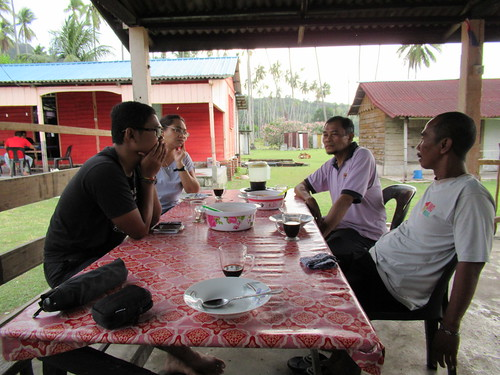 Discussion with Head of The Village at Kampung Duku