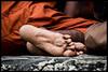 feet (Nigel_G) Tags: buddhist monk angkor cambodia feet orange