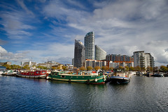 Docklands in Autumn October 2016 (8 of 8) (johnlinford) Tags: barge basin blackwalldock boat boats canonefs1022 canoneos7d dock docklands e14 hdr london marina towerhamlets