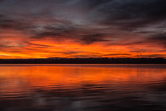Red Dawn (mclcbooks) Tags: dawn sunrise daybreak morning clouds light sky lake reflections chatfieldstatepark lakechatfield colorado