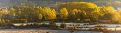 Amanecer otoñal (dnieper) Tags: amanecer otoño ocres escarcha león spain españa panorámica