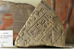 Fragment of a Stele (konde) Tags: stele horemheb seth god ancientegypt naqada 19thdynasty newkingdom limestone hieroglyphs