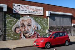 G.C.M. Steel Products (jschumacher) Tags: nyc brookyn bushwick mural streetart einstein bushwickcollective