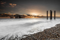 Brighton-1 (RJ Photographic) Tags: sun sunset waves bandstand brighton clouds dusk longexposure sea seascape water lee filters 09 hard 06 sosft nd grad