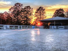 Ice Rink, No Teflon Rink (clarkcg photography) Tags: icerink teflonrink skate blades fall sunset fence wooden fencedfriday sunshinesunday sun sunlight sunrays