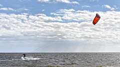 kite surfing (Shot Yield Photography) Tags: usa water sports kite surfing kitesurfing surfin sky clouds