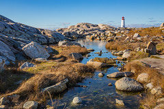 Another angle on the lighthouse (Nancy Rose) Tags: 6334 peggys cove lighthouse rocky rainpool atlantic