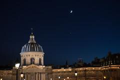 Together (MrBlackSun) Tags: conjunction moon venus paris night twilight dusk nikon d600 nikond600