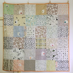 Old Ways quilt (Lotje quilts) Tags: old ways quilt modern fmq low volume house patchwork piecing