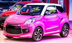 So Pink ! (Morgane De Greef - Pachen) Tags: rose pink voiture voiturette sans permis belgique artsmnagers charleroi cars