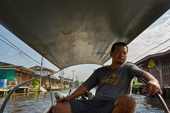 Just another day (8mr) Tags: driver boat river floating village asia thai thailand chillin chilling relax relaxed stress motor water bangkok damnoen saduak baht ratchaburi