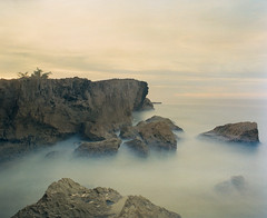 Jobos Sea Rocks (GOJR.) Tags: ocean waves longexposure inexplore film jobosbeach puertorico isabela beach kodakportra400 mamiyasekorc50mmf45 mamiyarb67pros landscape analog 6x7 mediumformat c41 120 seascape
