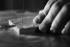 Hands at work (Giovanni Riccioni) Tags: valenzisi vespolate rilegno riccioni giovanniriccioniphotography wood woodworker carpenter black white blackandwhite hand hands cut cutting
