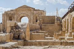 Construction (LynxDaemon) Tags: uploadedviaflickrqcom amman ruins romans rocks stone arch gate sky clouds