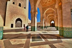 Mosque of Hassan II (ChiaraBer) Tags: mosque hassan ii casablanca morocco maroc architecture arabic muslim columns arch shadows light sun sunshine africa north african city cityscape travel traveling traveler globetrotter visit visiting tour tourism tourist lppathfinder