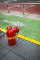 (340/366) City Strata (with Hydrant) (CarusoPhoto) Tags: city street urban lines arrow arrows lane lanes road pavement hydrant fire natural light john caruso carusophoto photo day project 365 366 fuji x20