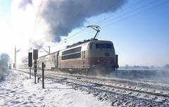 103 222  bei Bsinghoven  08.12.12 (w. + h. brutzer) Tags: bsinghoven eisenbahn eisenbahnen train trains elok eloks 103 e03 railway deutschland germany lokomotive locomotive zug db webru analog nikon