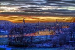 Dresden at dawn (astro@spaceboyz.net) Tags: dresden hdr dawn elbe clouds sun sundawn landscape city bridge cityscape