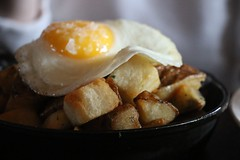 Farmstead, St Helena CA (ExarchIzain) Tags: food table restaurant potatoes dish eating egg eat fried hash sthelena schramsberg