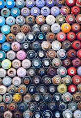 Portion of the Spray Cans, Ian Ross Gallery, San Francisco (chloe & ivan) Tags: sanfrancisco ca streetart murals dayofthedonut ianrossgallery
