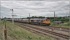 66737. Thoresby Colliery Junction. (Alan Burkwood) Tags: diesel junction locomotive coal freight colliery thoresby gbrf 66737
